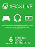 Microsoft XBox Live Gold Membership Card 6 Month