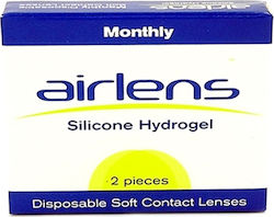Airlens SILICONE HYDROGEL Disposable Soft Contact Lenses 2PACK Μυωπίας-Υπερμετρωπίας Μηνιαίοι 2τμχ