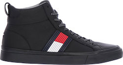 def5a5b4e3d Tommy Hilfiger Flag Detail High Leather