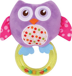 Lorelli Bertoni Rattle With Ring Purple Owl