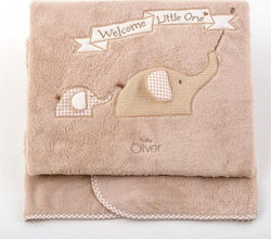 Baby Oliver Κουβέρτα Αγκαλιάς Welcome Little One Fleece 100x80 46-6725/302 Μπεζ