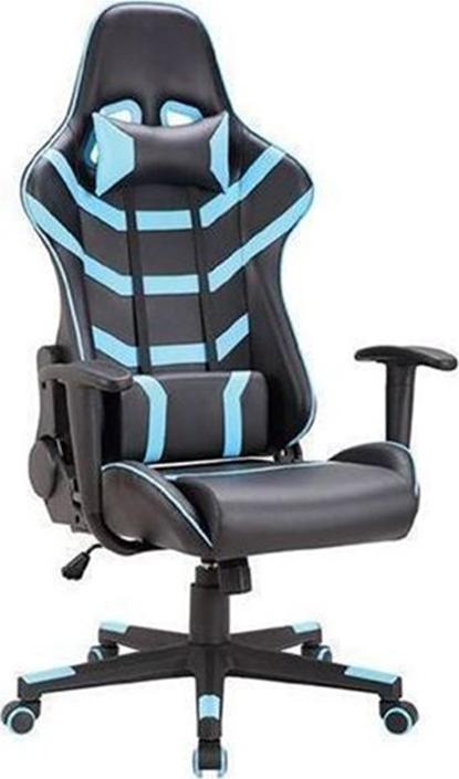 ES Market Πολυθρόνα Γραφείου Gaming ΚΥΡΗΝΗ Μαύρο/Μπλε PVC 66x67x127-135cm