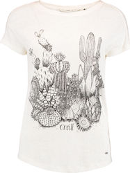 LW CALI NATURE T-SHIRT Μπλούζα Εισ. O'NEILL WHT