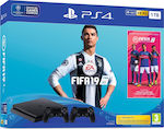 Sony PlayStation 4 Slim 1TB & FIFA 19 & 2x DualShock 4