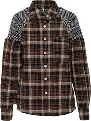 FREE PEOPLE FIRESIDE NIGHTS BUTTONDOWN LS SHIRT - OB845063-BLACK BLACK