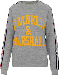 FRANKLIN & MARSHAL W FLEECE ROUND NECK SWEATER - FLWF501AMW18-2300 GREY