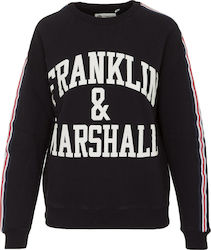 FRANKLIN & MARSHAL W FLEECE ROUND NECK SWEATER - FLWF501AMW18-021 BLACK