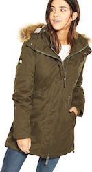 Superdry Hooded Microfibre Khaki