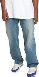 ECKO UNLTD HIGH LINE LOOSE FIT JEANS DISTRESSED WASH