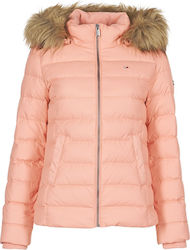Tommy Hilfiger Fur Hooded Pink