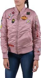 Alpha Industries MA 1 VF Patch Silver Pink