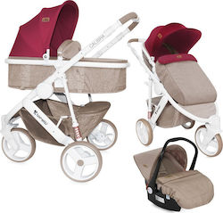 Lorelli Bertoni Calibra3 3 in 1 Beige & Red