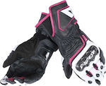 Dainese Carbon D1 Long Lady Black/White/Fuchsia