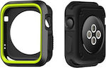 OEM Soft Silicone Case Black/Green (Apple Watch 42mm)