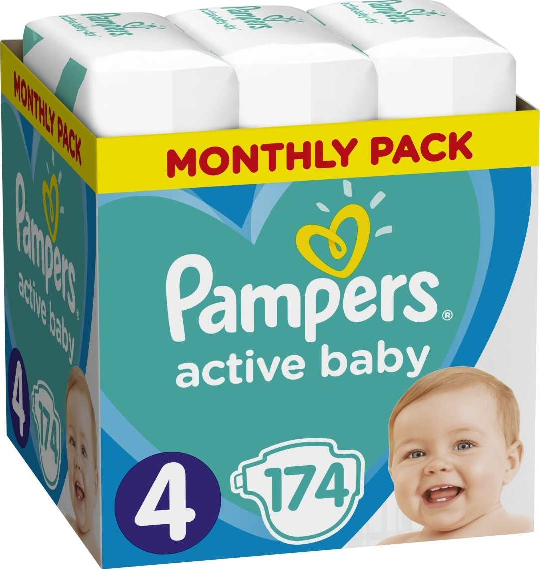 7aa336c9f4b Προσθήκη στα αγαπημένα menu Pampers Active Baby Monthly No 4 (9-14kg) 174τμχ