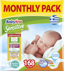 Babylino Sensitive With Chamomile No 1 (2-5kg) 168τμχ