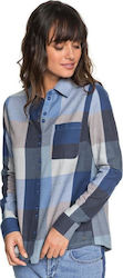 Concrete Streets Check Long Sleeve Shirt ERJWT03240 Dress Blues Square Plaid