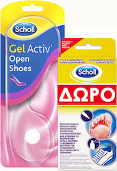 Scholl Gelactiv Open Shoes 2τμχ + Athletes Feet Mycosis Στυλό 4ml + Σπρέι 10ml