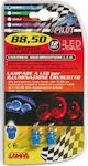 Lampa B8.5D Cockpit Colour Lamp Led Red 12V 2τμχ