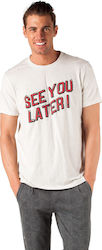 Scotch & Soda Nepped Text Artwork 147389-0218 Light Grey