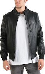 Ice Tech Men's Leather Jacket - Ανδρικό Jacket ECHOPU35 - Black