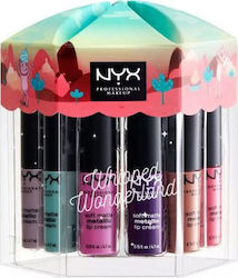 Nyx Professional Makeup Whipped Wonderland 12pcs Soft Matte Metallic Lip Cream Vault
