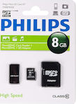Philips microSDHC 8GB Class 10 with Adapter + Reader