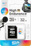 Silicon Power High Endurance microSDHC 32GB Class 10 with Adapter