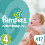 Pampers Active Baby Dry No4 (8-16kg) 17τμχ