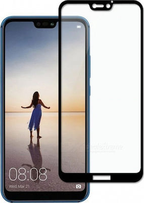 Full Face Tempered Glass Black (Huawei P20 Lite)