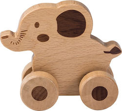 Joueco Rolling Animal Natural Elephant