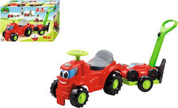 Ecoiffier Ride On Tractor with Trailer and Lawn Mower Red