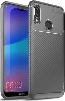 iPaky Carbon Fiber Back Cover Γκρι (Huawei P20 Lite)