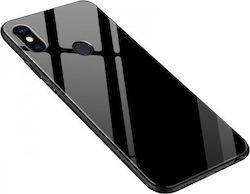 dec0507cec OEM Xiaomi Mi A2 Lite Θήκη με Πλαίσιο Σιλικόνης και Όψη Γυαλιού Tempered  Glass - Black
