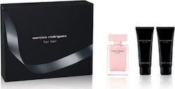 Narciso Rodriguez Her Xmas Set Eau De Parfum For Her 50ml, Her Shower Gel 75ml & Her Body Lotion 75ml