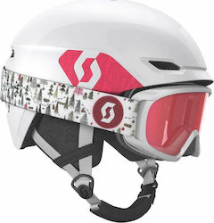 Scott Combo Helmet Keeper 2 + Goggle Jr Witty White