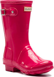 Γαλότσες HUNTER - Original Kids Gloss JFT6000RGL Bright Pink d199b8ce454