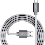 ESR Braided USB 3.0 Cable USB-C male - USB-A male Γκρι 1m (Double Braided)