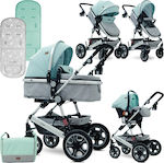 Lorelli Bertoni Lora Set 3 in 1 Green & Grey Birds