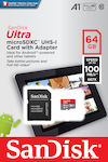 Sandisk Ultra microSDXC 64GB U1 A1 with Adapter Tablet