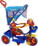Family Tricycle with Tent & Basket Blue