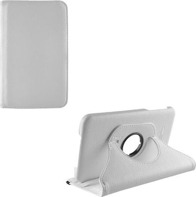 Volte-Tel Περιστρεφόμενο Samsung Tab 3 Lite T110 7.0″ Leather Book Rotating Stand White