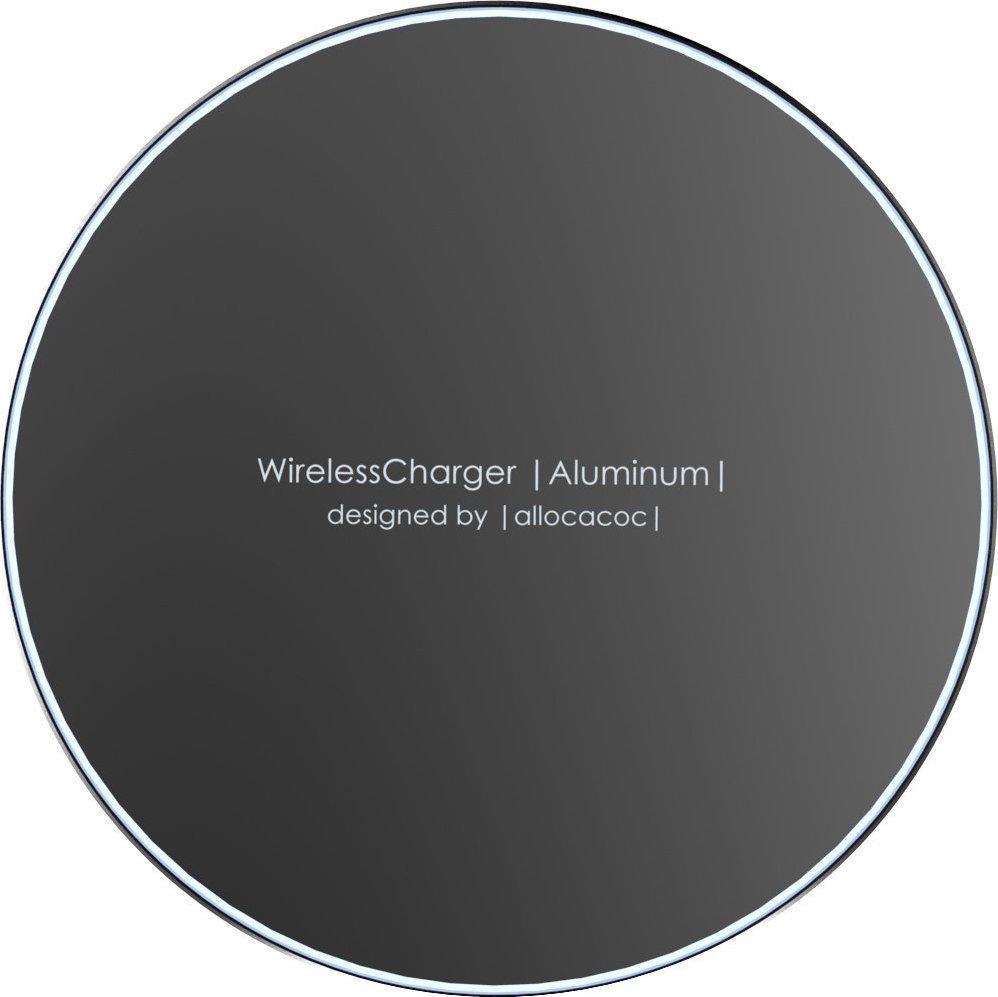 Allocacoc Wireless Charging Pad (Qi) Μαύρο (Aluminium 10W) (11023BK/WLCGAL) - Πληρωμή και σε έως 36 Δόσεις!!!