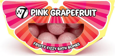 W7 Cosmetics Fruity Fizzy Bath Bombs Pink Grapefruit 10x10 100gr