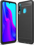 Carbon Fiber Brushed Μαύρο (Huawei P30 Lite)