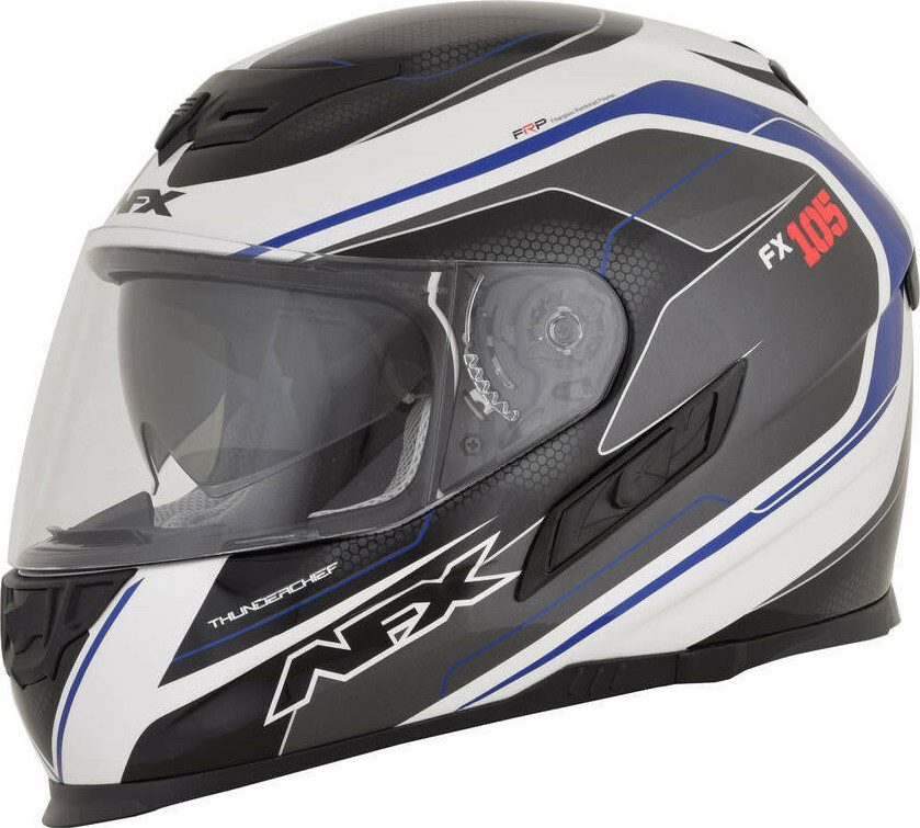 AFX FX-105 Thunder Chief Full Face Motorcycle Helmet Red