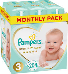 Pampers Premium Care Monthly Box No 3 (6-10 Kg) 204τμχ