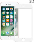Powertech 5D Full Glue Full Face Tempered Glass White (iPhone 6)