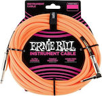 Ernie Ball Cable 6.3mm male - 6.3mm male 3m (P06079)