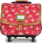 Tann's London Trolley Cartable 42269 Strawberry